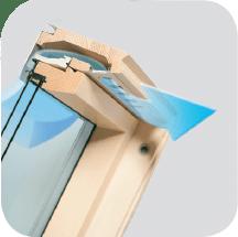 V22 - Okno dachowe obrotowe superoszczędne FTP-V U5 trzyszybowe
