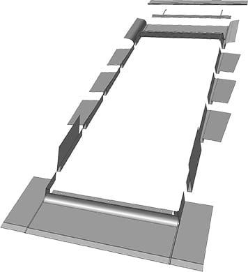EG rysunek www - Kołnierz EGV do dachów łuskowych Fakro