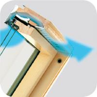 automatyczny nawiewnik V40P FAKRO - Okno dachowe obrotowe antywłamaniowe FTP-V P2 Secure