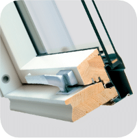 drewno z powloka poliuretanowa - Okno dachowe uchylno-obrotowe FPU-V U3 Fakro preSelect