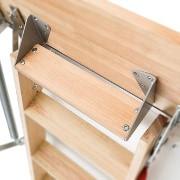 Dodatkowy stopień LXT - Schody strychowe supertermoizolacyjne LWT 280 Fakro z drewnianą drabinką