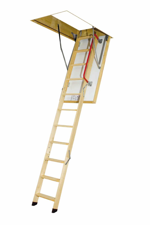 LTK01 - Schody strychowe superizolacyjne LTK Energy 280 z drewnianą drabinką