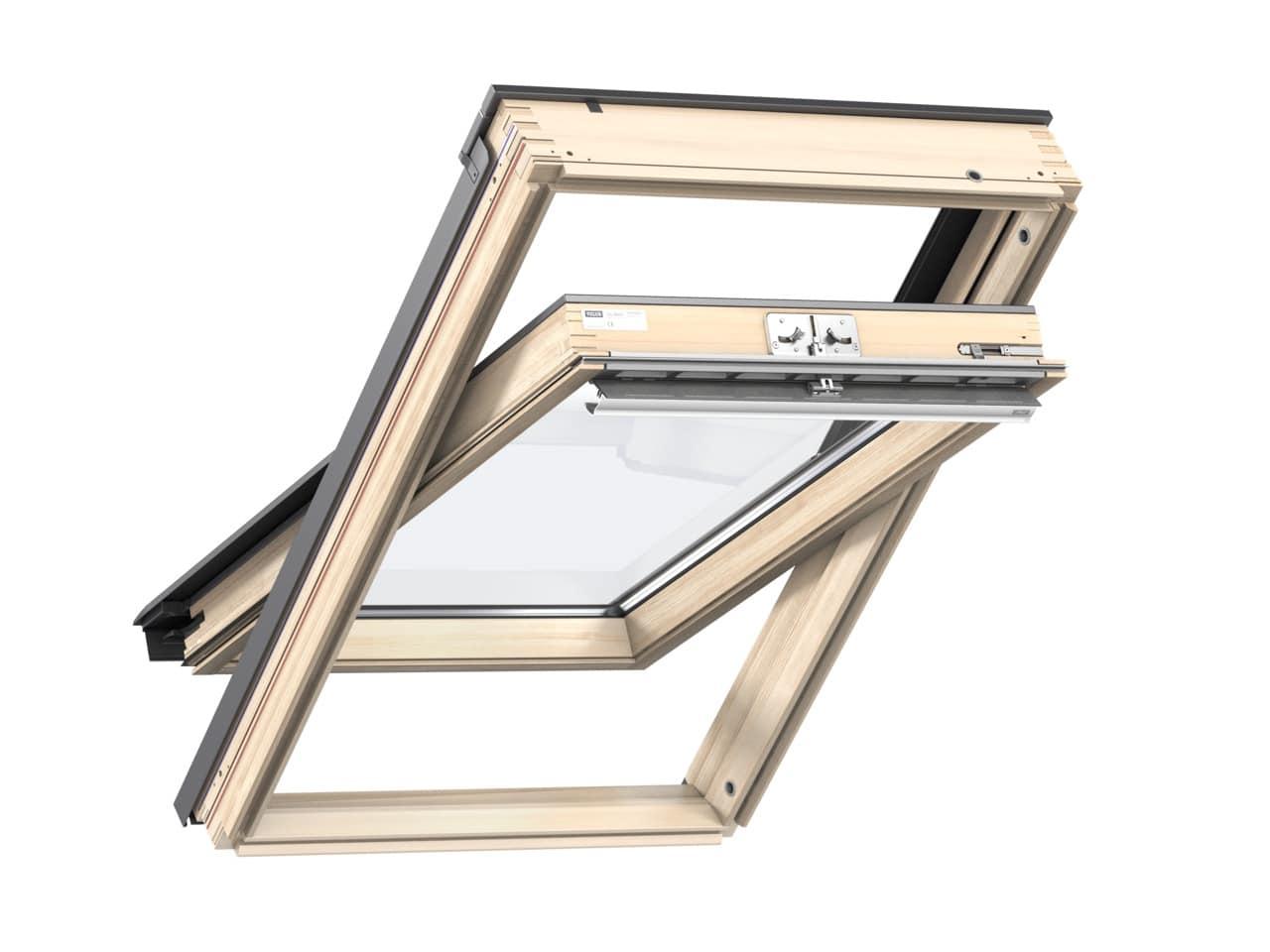 okno dachowe velux GLL 1061 2 - VELUX okno kolankowe VFE 3070 2-szybowe