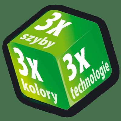 3x3 dice - Okna Fakro