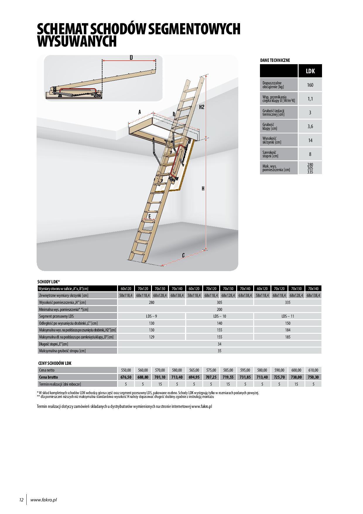 FAKRO schody strychowe 20 page 012 - Schody strychowe